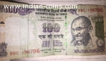 100 Rupees Indian Note Holy 786