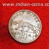 1947 Half rupee silver coin